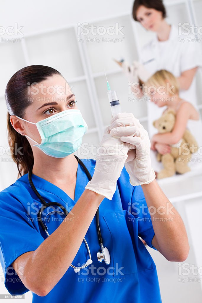 pediatric injection royalty-free stock photo