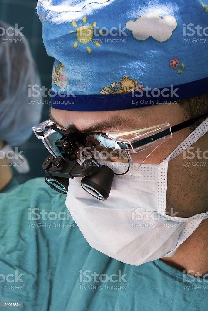 Pediatric surgeon royalty-free stock photo