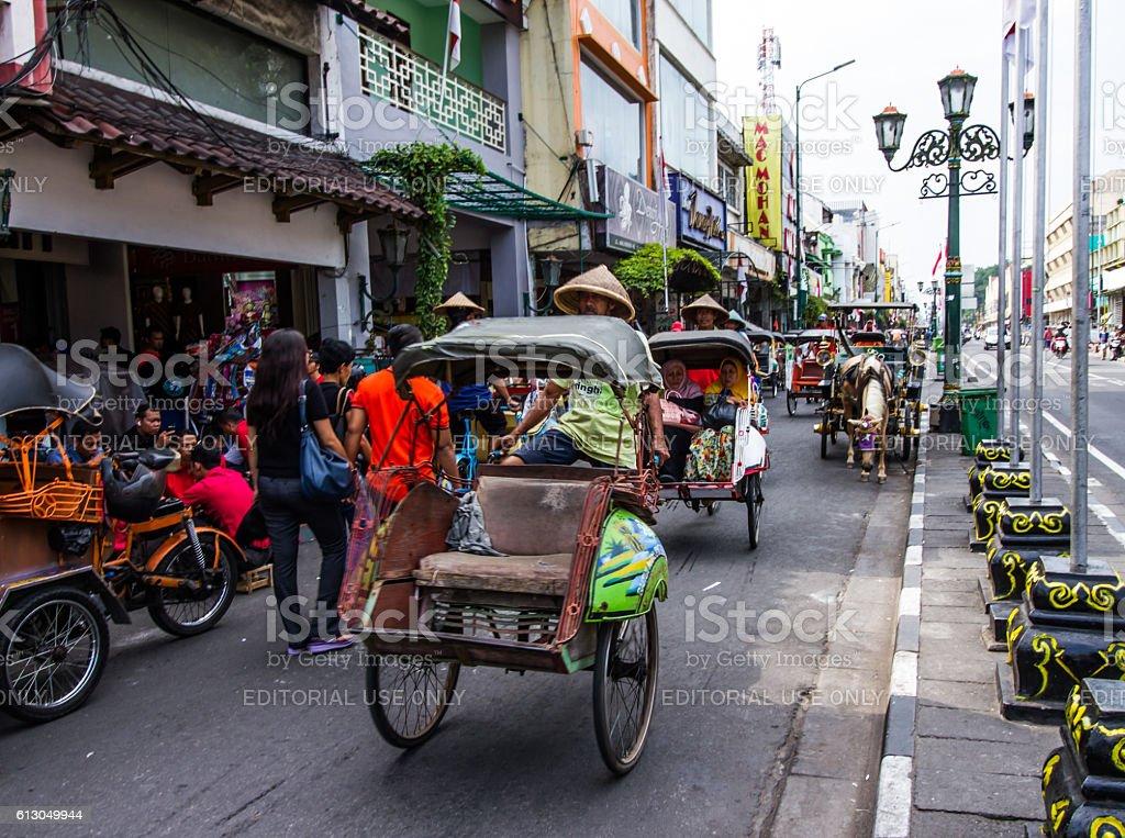 Pedicab trishaw tricycle stock photo