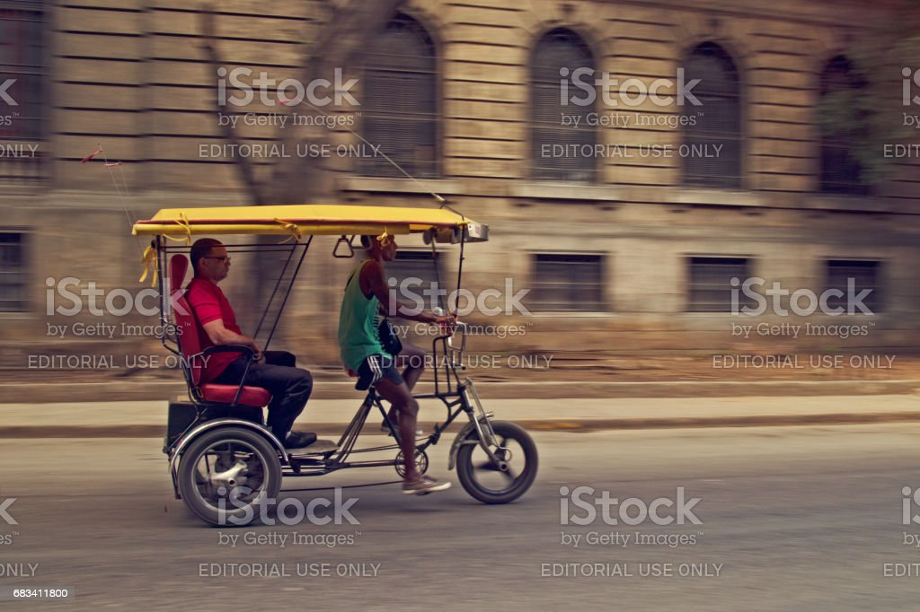 Pedicab Zoom Stock Photo - Download Image Now