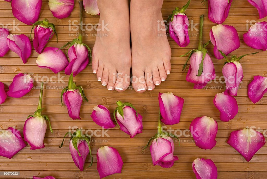 Pedicured Feet royalty-free stock photo