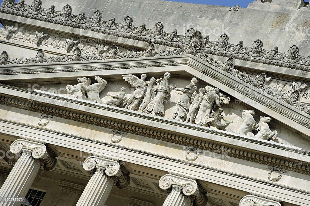 Pediment detail royalty-free stock photo
