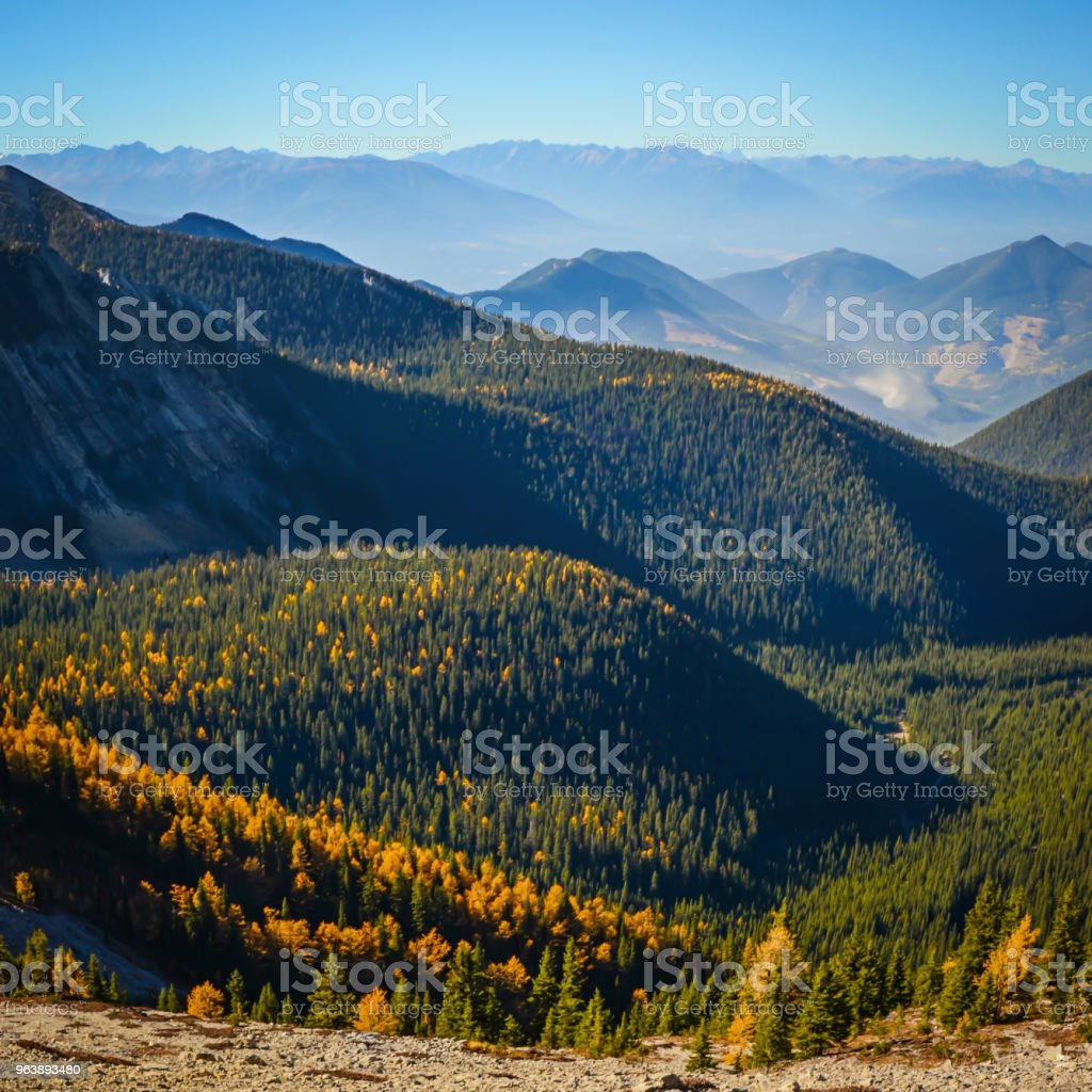 Pedley Pass Landscape in Fall - Royalty-free Autumn Stock Photo