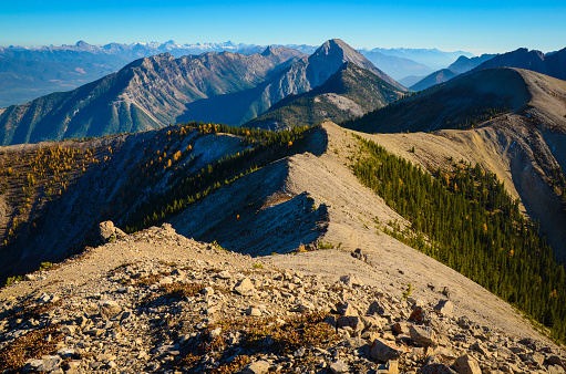 Pedley Pass Ridge Line Landscape In Fall Stock Photo - Download Image Now