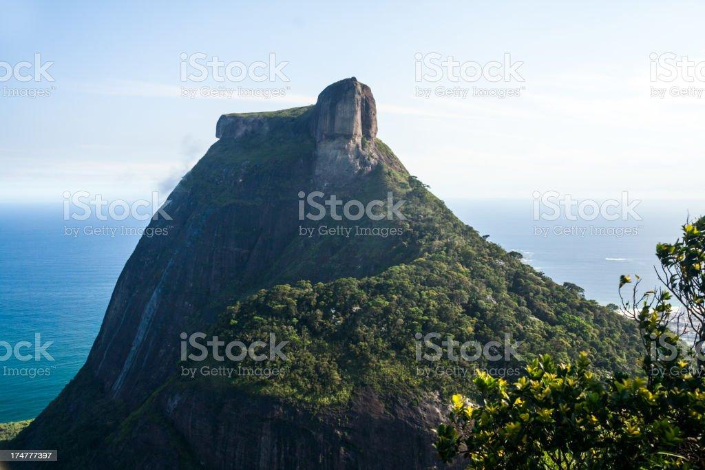 Pedra da Gavea mountain stock photo