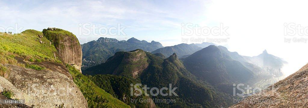 Pedra da Gavea panorama stock photo
