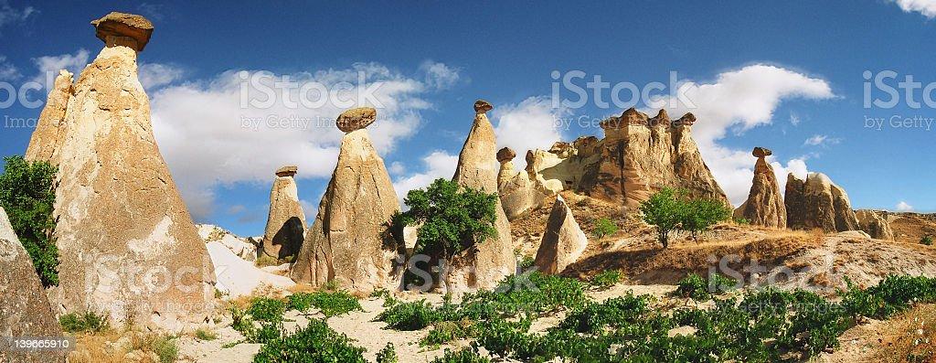 Pedras cogumelos no parque national Goblin Valley, em Utah  stock photo