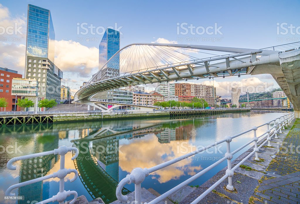 Pedro Arrupe Footbridge stock photo