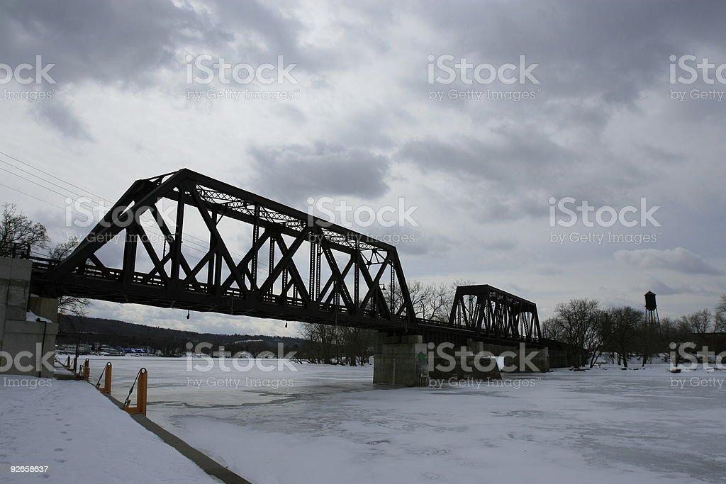 Peebles Island Bridge royalty-free stock photo