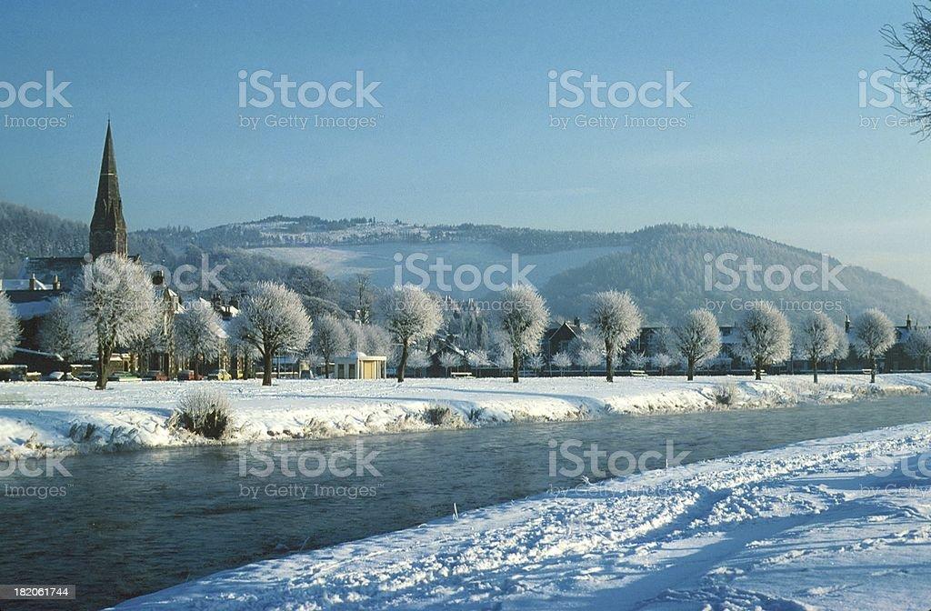 Peebles, Winter stock photo