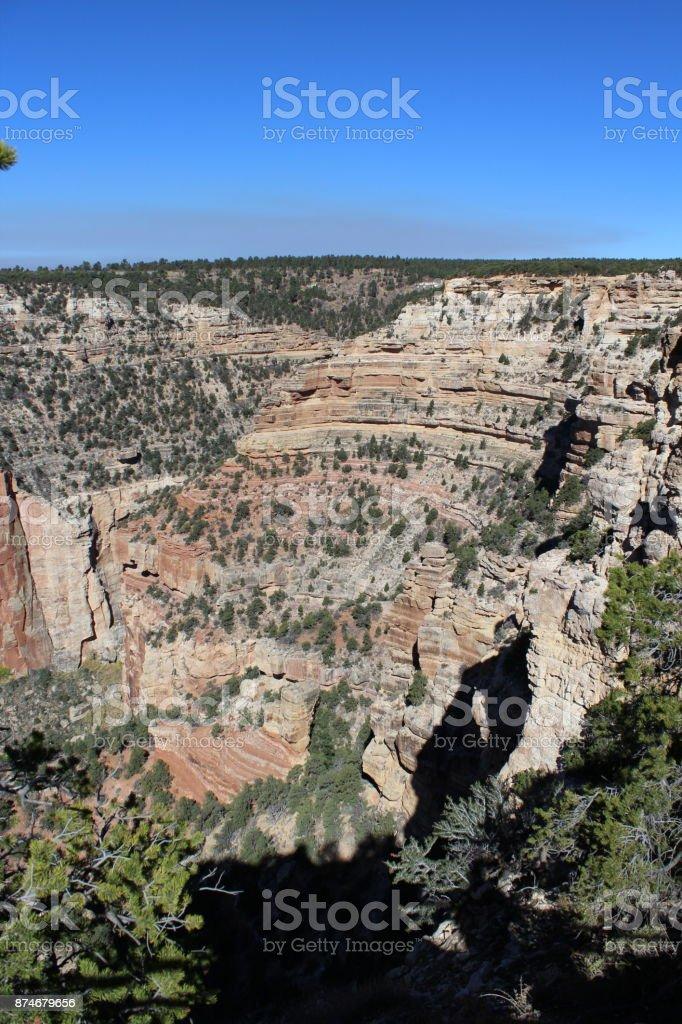A peek into the Canyon stock photo