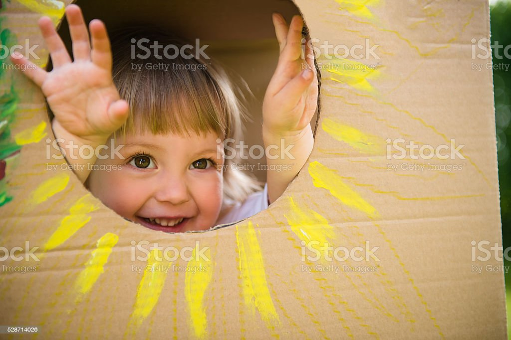 Peekaboo stock photo