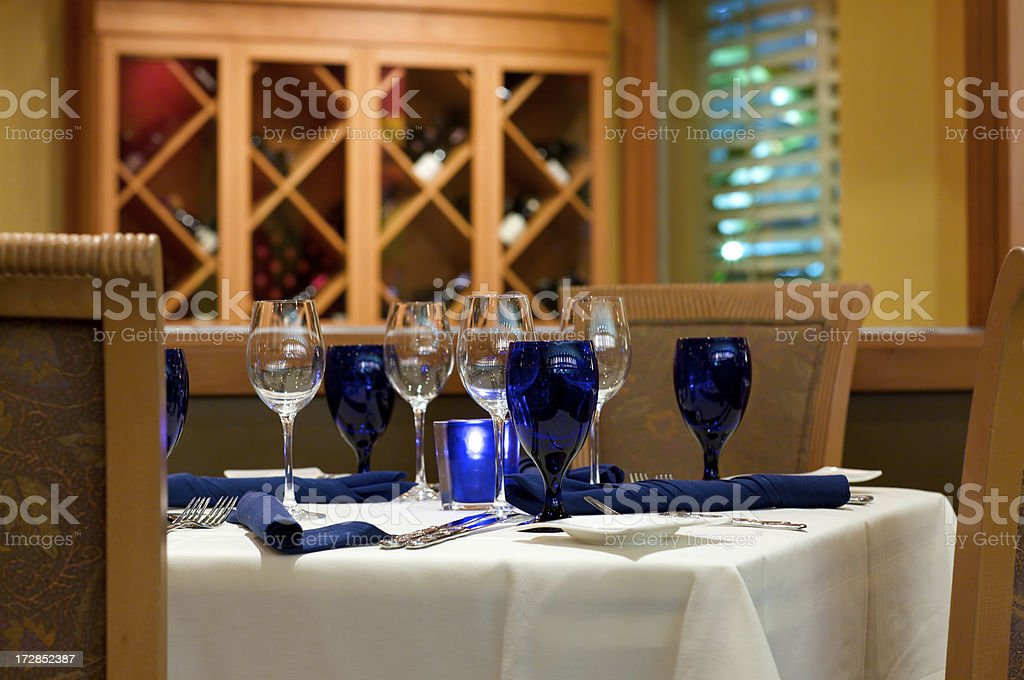 peeking at fine dining table royalty-free stock photo