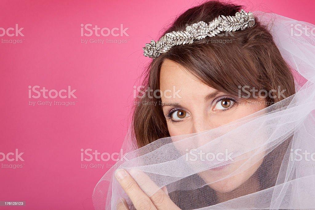 Peeking Bride royalty-free stock photo