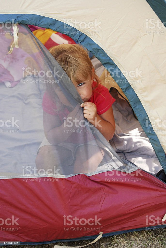 Peeking Out of the Tent royalty-free stock photo