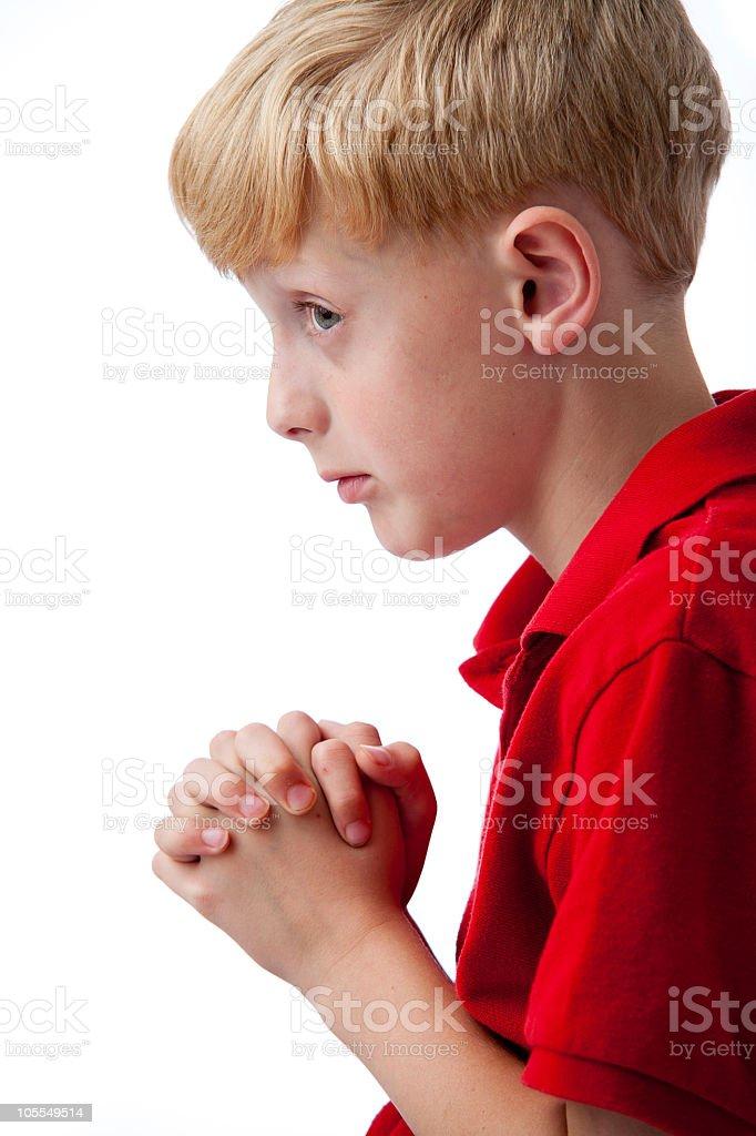 Peeking Prayer royalty-free stock photo