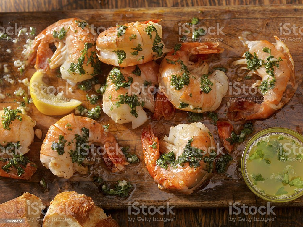 Peel and Eat Shrimp stock photo