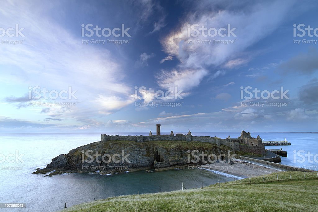Peel Castle, Isle of Man royalty-free stock photo