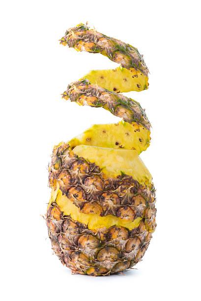 Peel off pineapple isolated on white background stok fotoğrafı