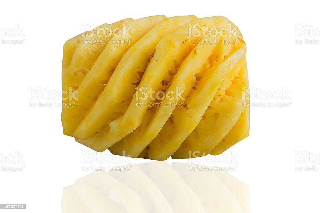 peel pineappke royalty-free stock photo