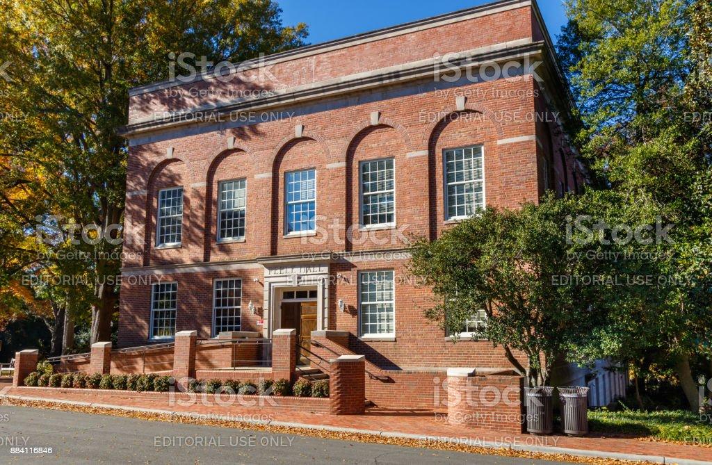 Peele Hall at NC State University stock photo