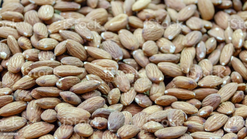 Peeled almond kernels stock photo