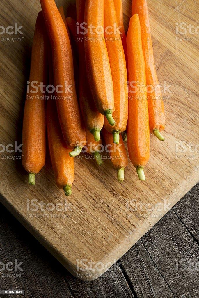 Peeled Baby Carrots royalty-free stock photo