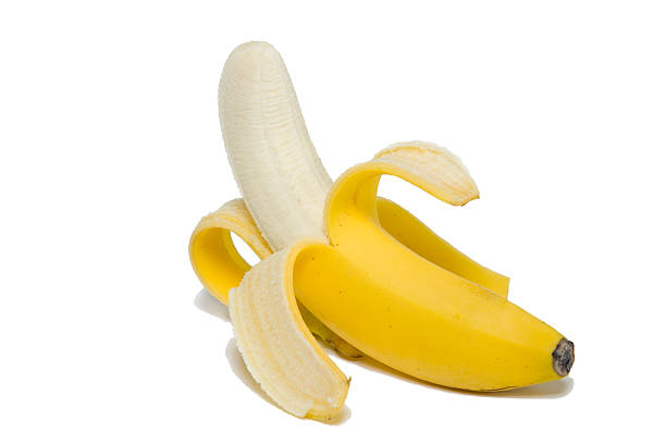 peeled banana - peeled stock photos and pictures