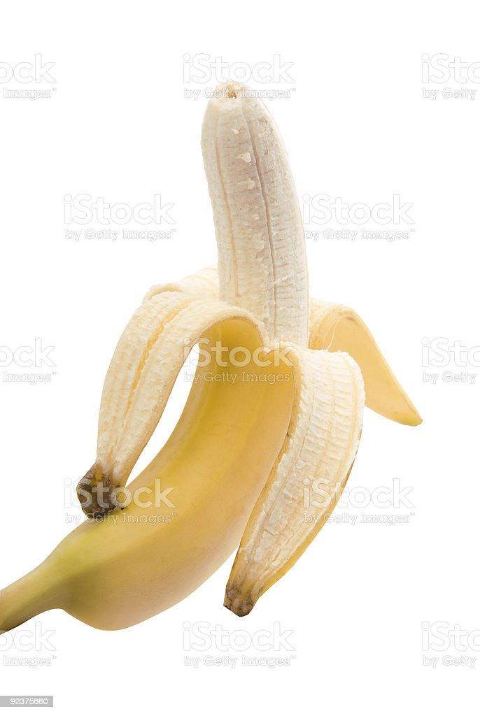 Geschält banana Lizenzfreies stock-foto