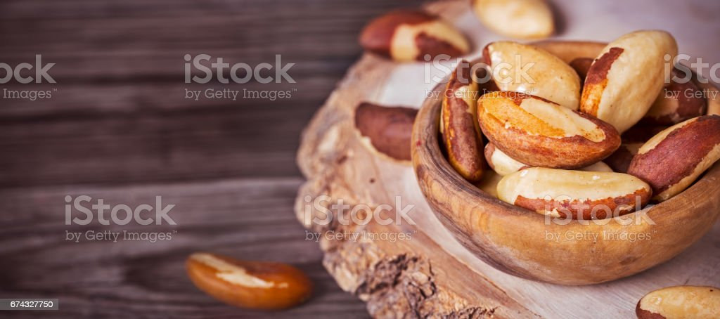 Peeled brazil nuts stock photo