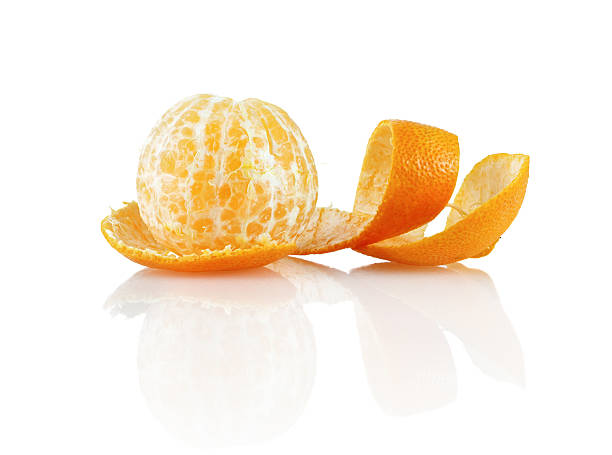 peeled mandarin - peeled stock photos and pictures