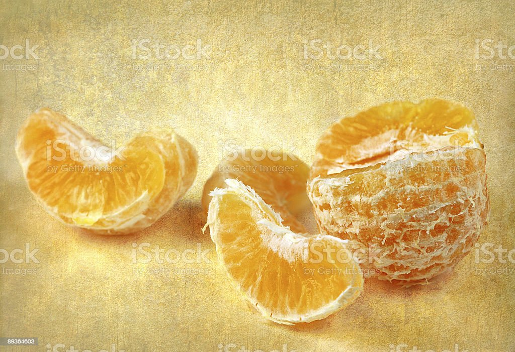 Peeled mandarin/orange royaltyfri bildbanksbilder
