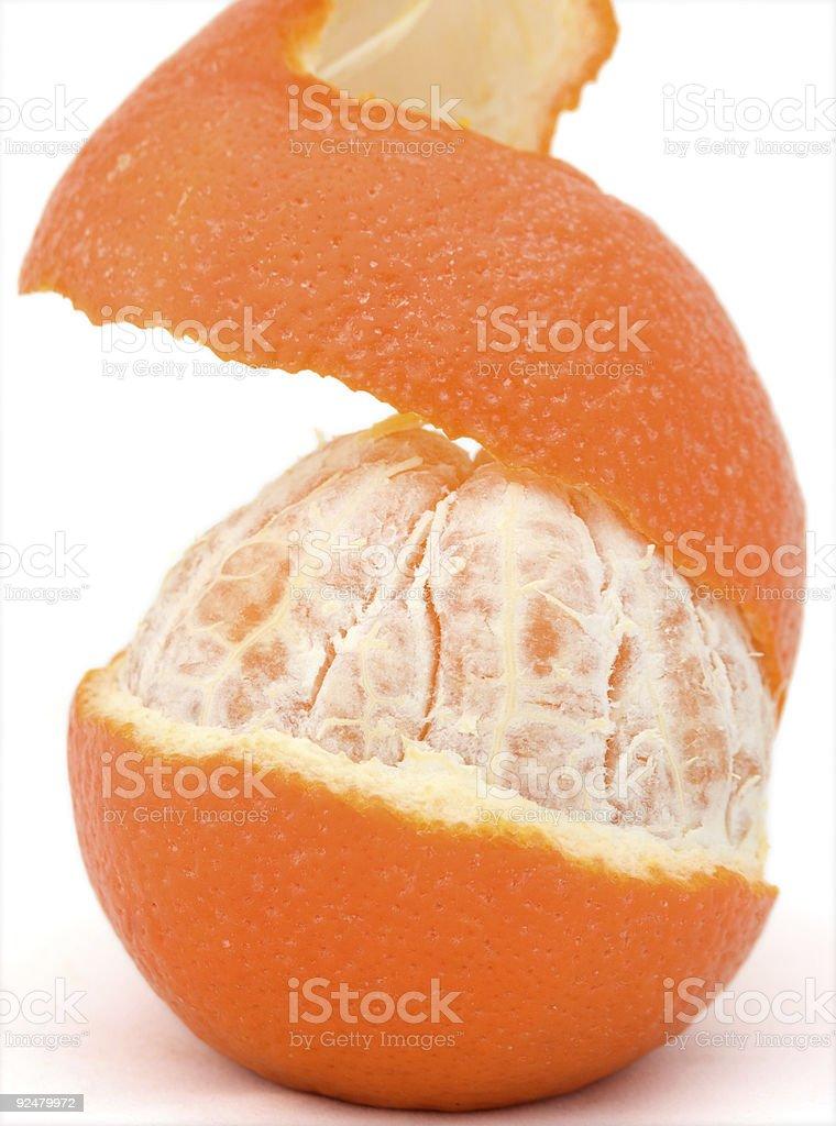 Peeled Orange royalty-free stock photo