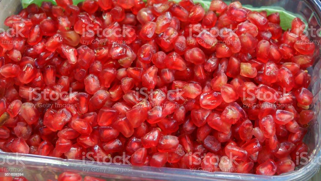 Peeled pomegranate stock photo