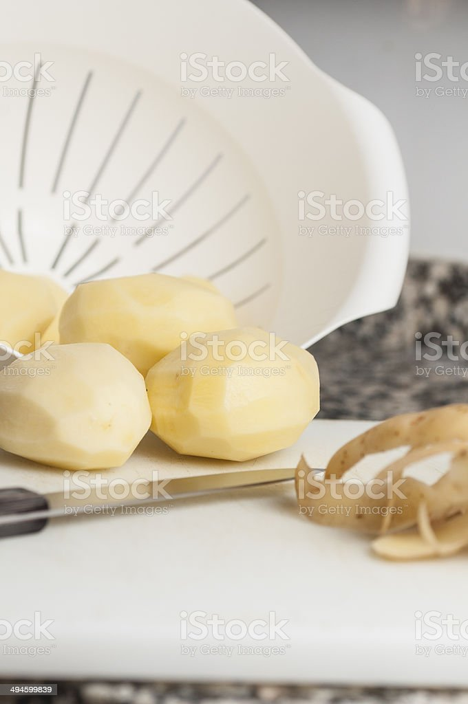 peeled potatoes series 05 royalty-free stock photo