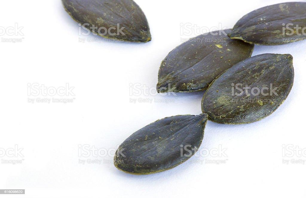 Peeled pumpkin seeds stock photo