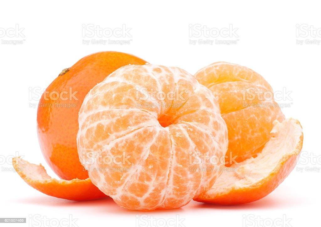 Épluché mandarine et fruit de mandarine photo libre de droits