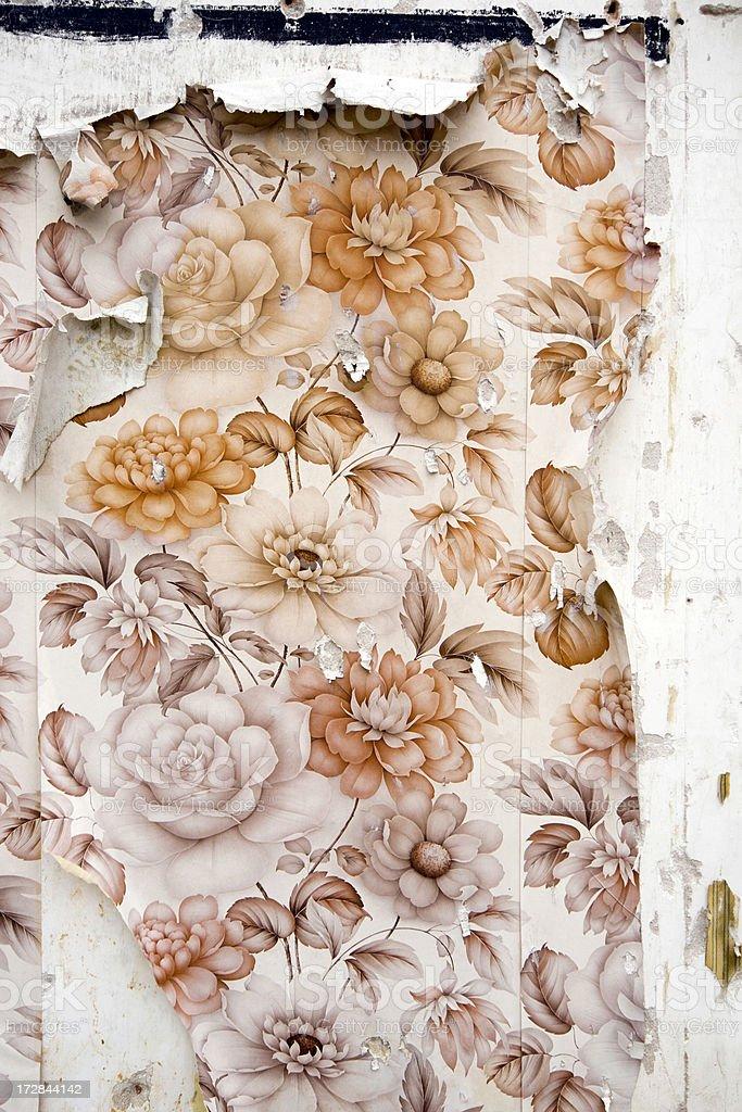 Peeled wallpaper royalty-free stock photo
