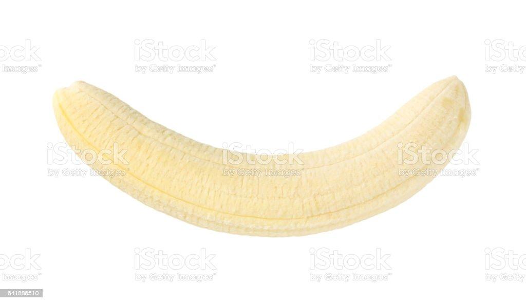gepelde hele banaan - Royalty-free Banaan Stockfoto
