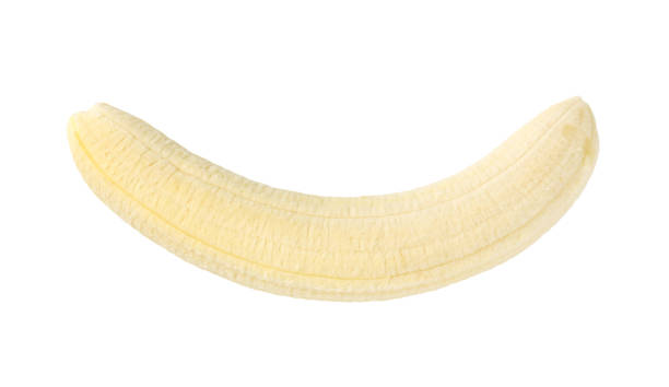 peeled whole banana - peeled stock photos and pictures