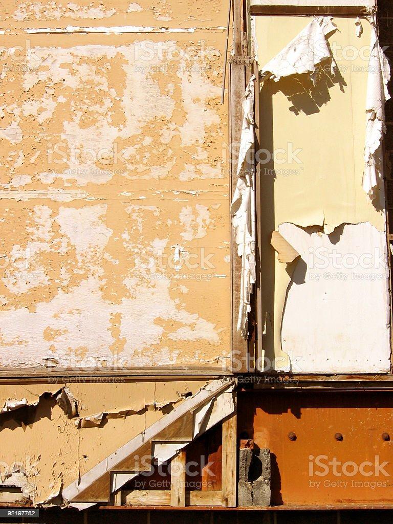 Peeling Building Side royalty-free stock photo