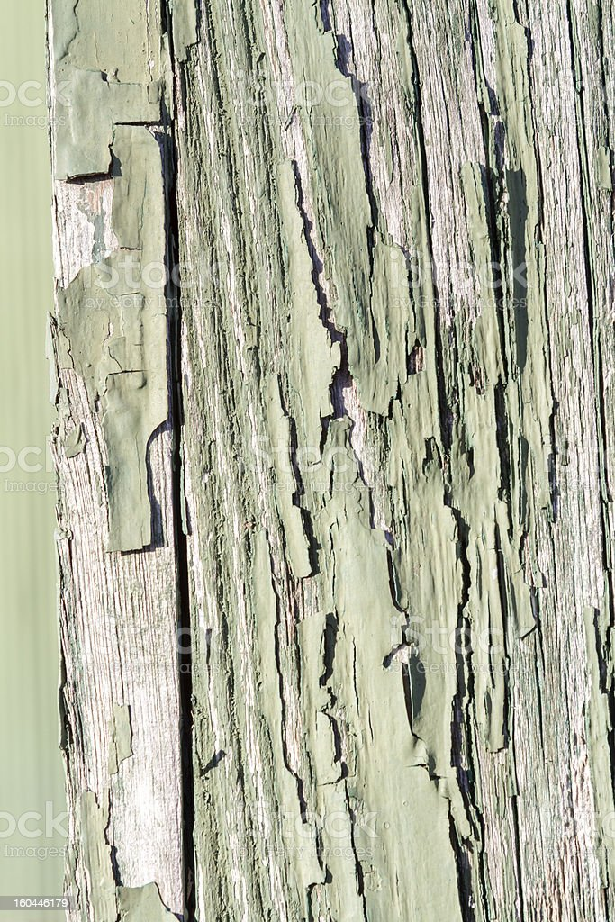 Peeling cracking Green paint royalty-free stock photo
