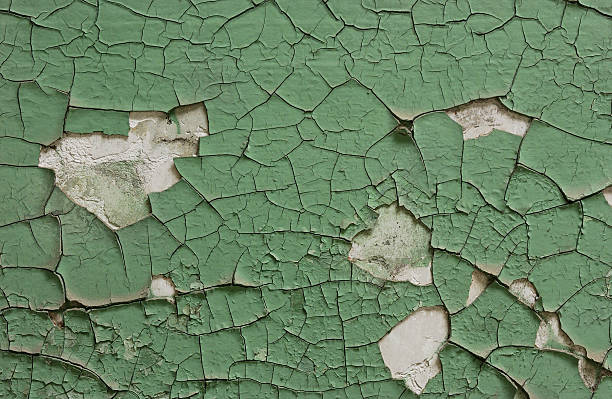Peeling Green Paint Full Frame Background stock photo