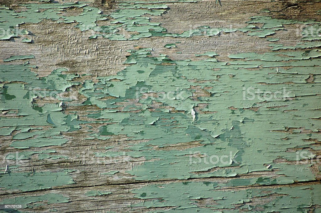 Peeling Green Paint royalty-free stock photo