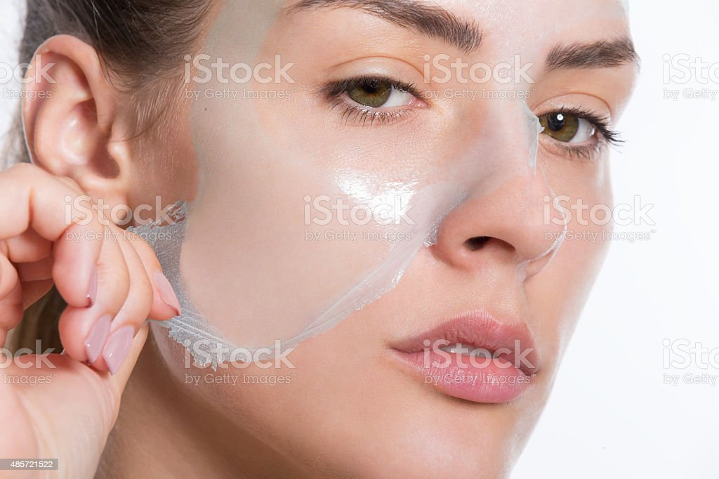 Peeling Off Facial Mask Stock Photo - Download Image Now ...
