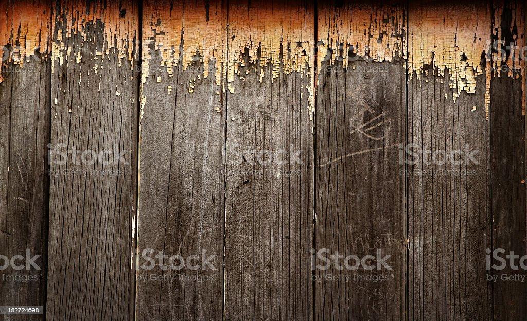 Peeling Orange Paint stock photo