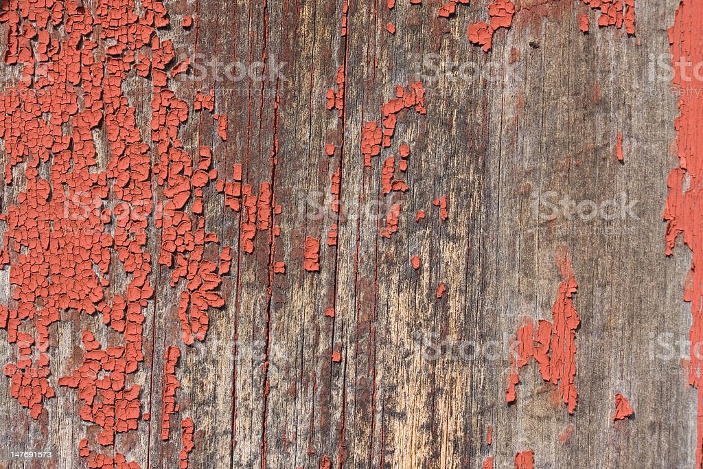 Peeling paint from an old New England Barn stock photo