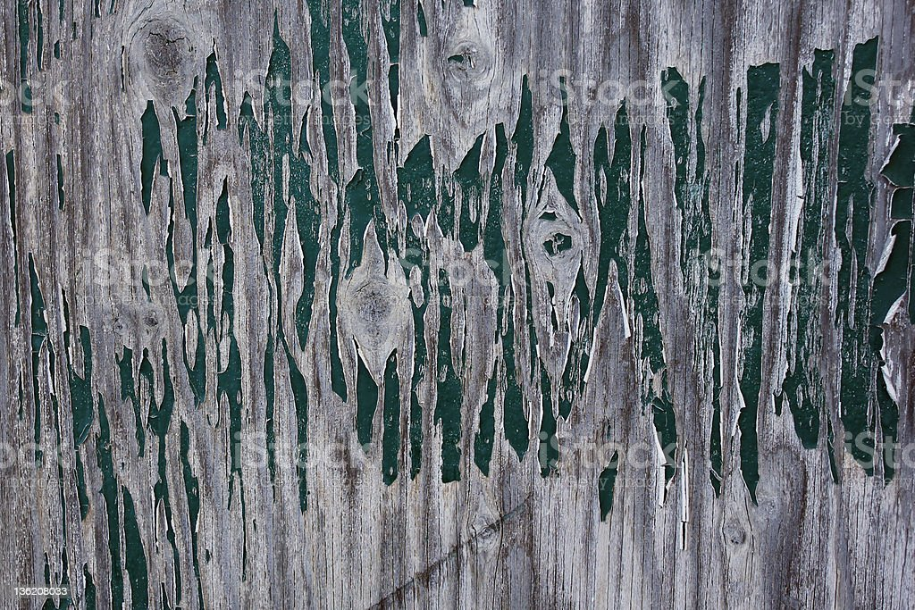 Peeling paint green on plywood royalty-free stock photo