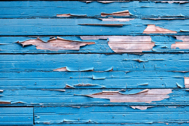 peeling paint on old weathered wood. texture background - peeling off stock photos and pictures