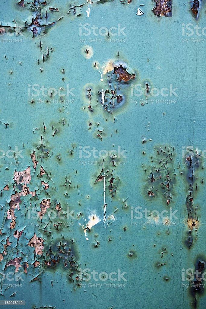Peeling Paint on Rusty Metal XXXL Background royalty-free stock photo